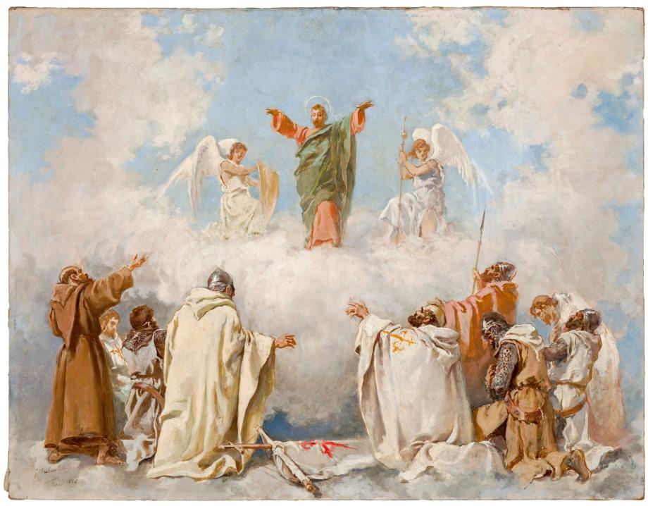 Aparición del Apóstol Santiago a Santos y caballeros de la Batalla de Clavijo