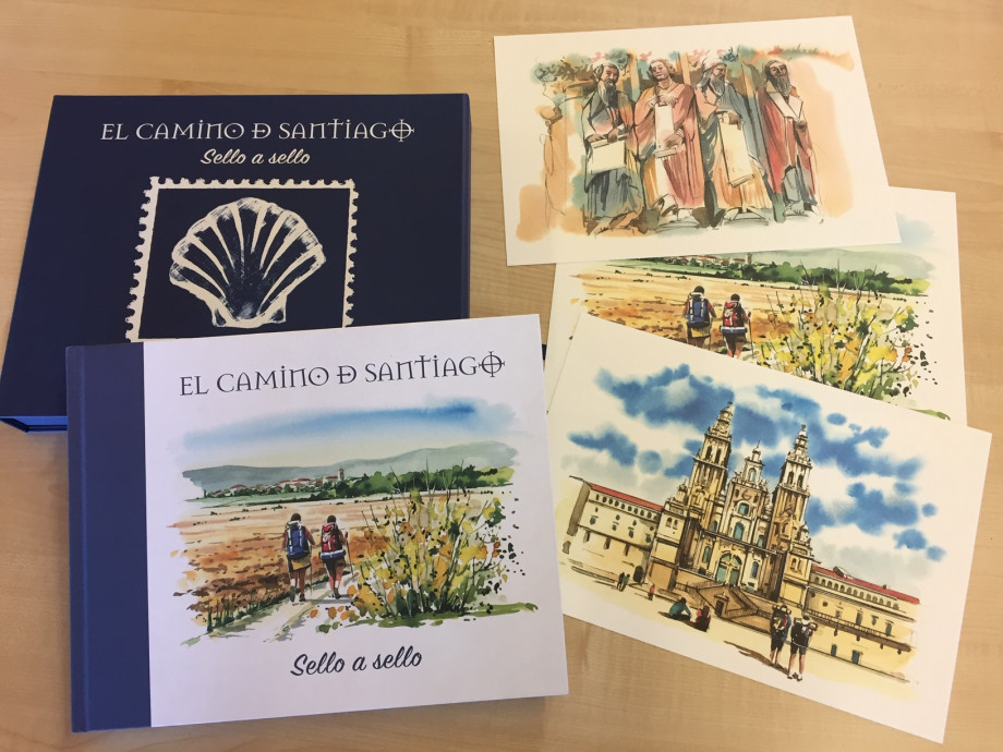 Libro filatélico dedicado al Año Jubilar Compostelano