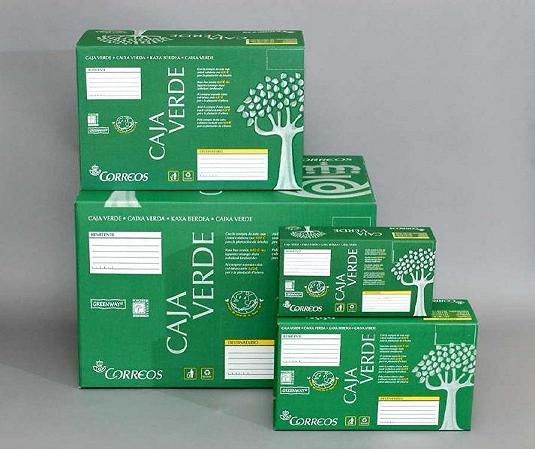 Caja Verde de Correos para Paq Peregrino