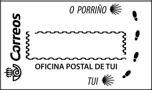 Matasellos del Camino Portugués entre Tui y O Porriño