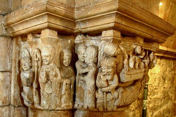 Capitel de la Anunciación San Juan de Ortega