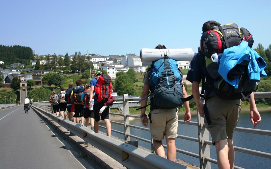 foreign pilgrims to santiago