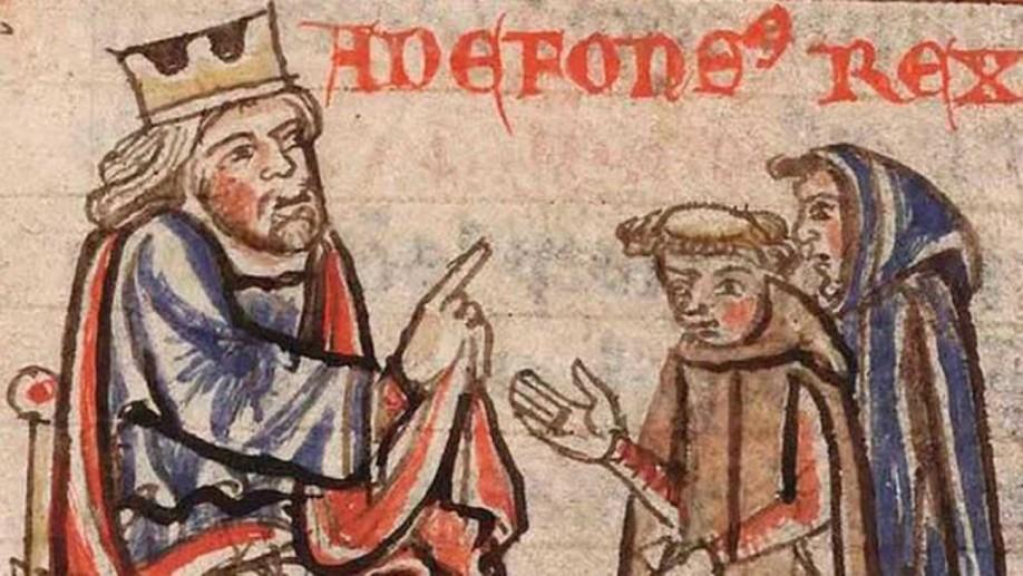 Pelayo y Teodomiro le comunican al rey Alfonso II el descubrimiento de la tumba del Apóstol