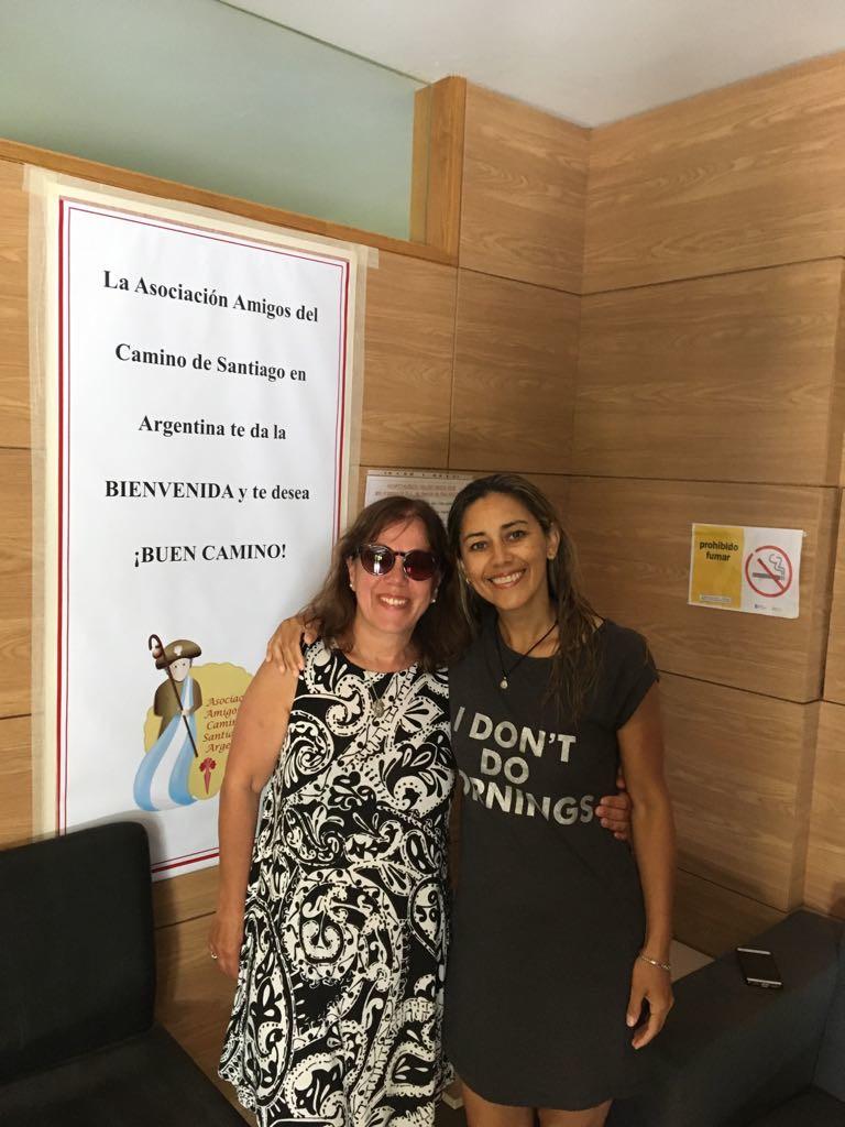 Rosana Montano, hospitalera voluntaria en O Cebreiro