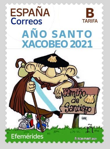 Sello emitido por Correos para conmemorar el Xacobeo 2021-2022