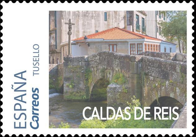 Sello del Camino Portugués dedicado a Caldas de Reis