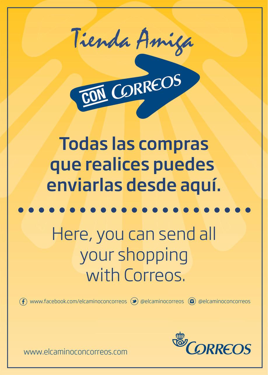 Tiendas Amigas de Correos en el Camino de Santiago