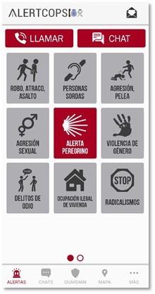 Alertcops, app para emergencias en el Camino de Santiago