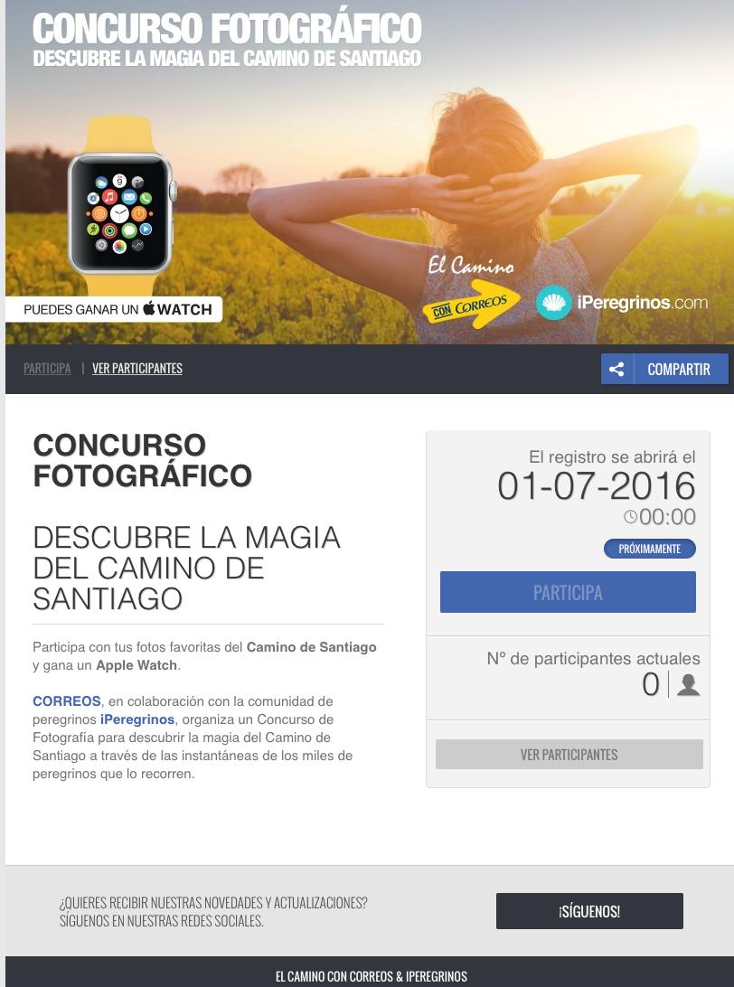 aplicacion para el concurso fotografico descubre la magia del camino