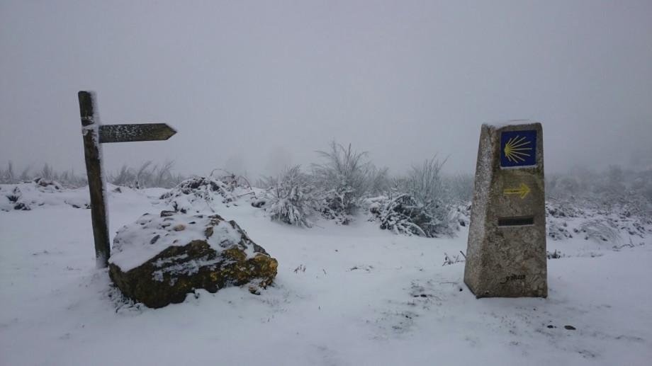 Camino Francés con nieve