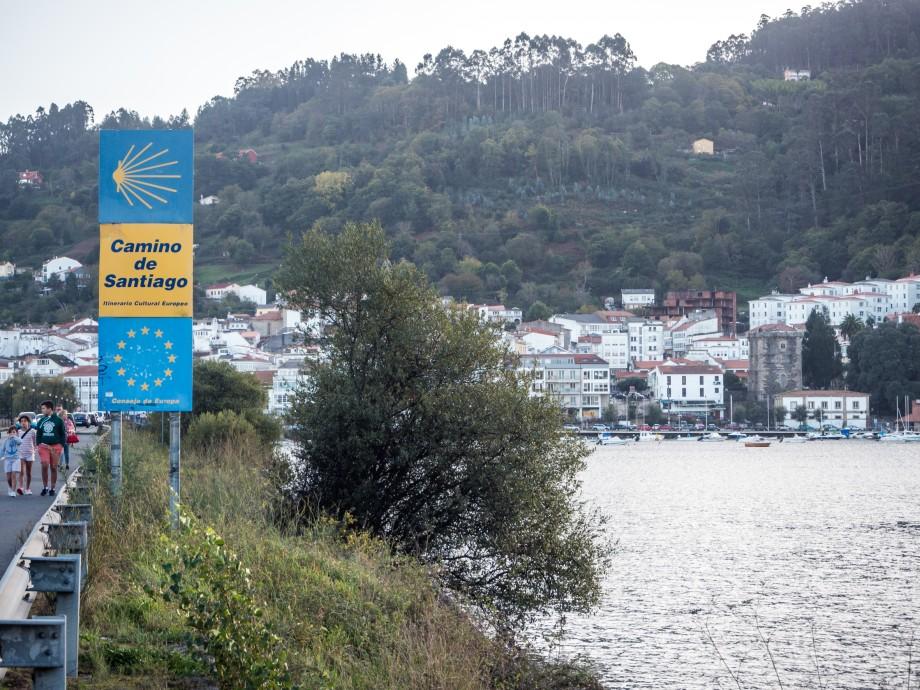 Camino Inglés a su paso por Pontedeume