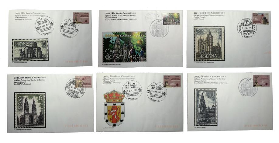 Cartas y sellos del Camino de Santiago