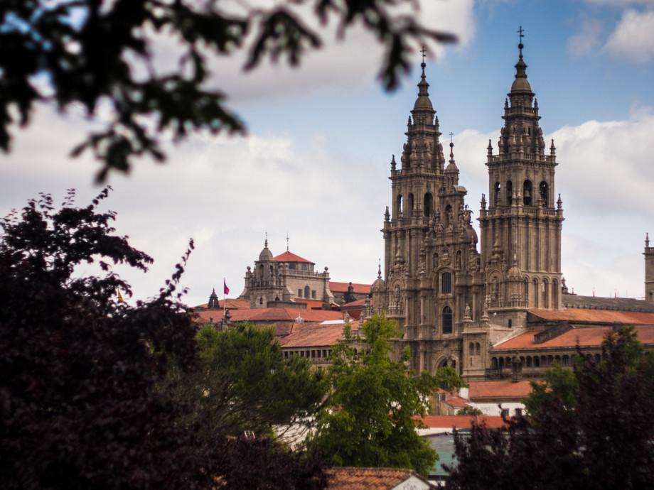 Catedral de Santiago de Compostela vista desde la Alameda