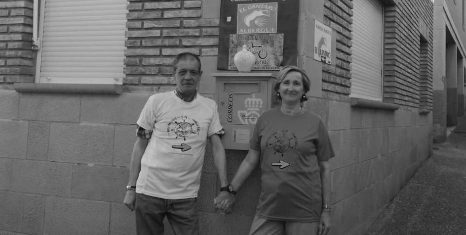 Celestino y Alicia, propietarios del albergue El Cántaro de Navarrete