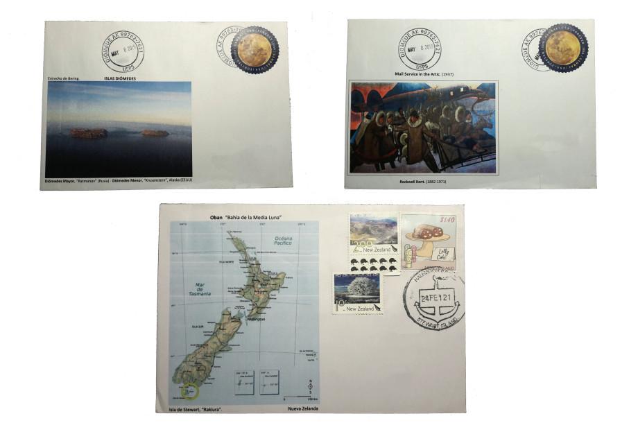 Colección de sellos y cartas del mundo