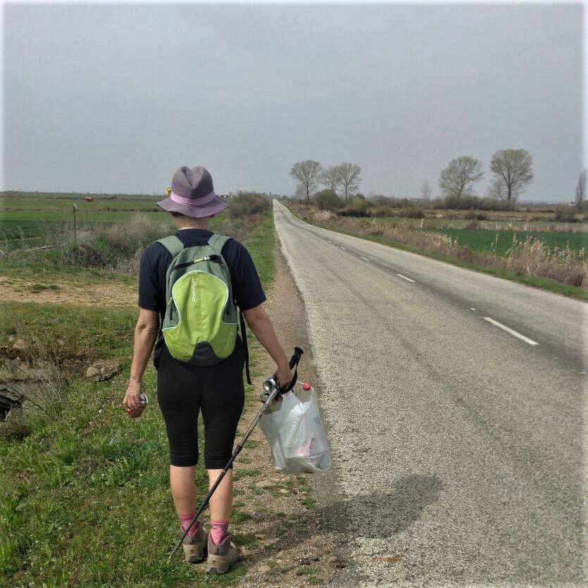 Ecoperegrina en el Camino de Santiago