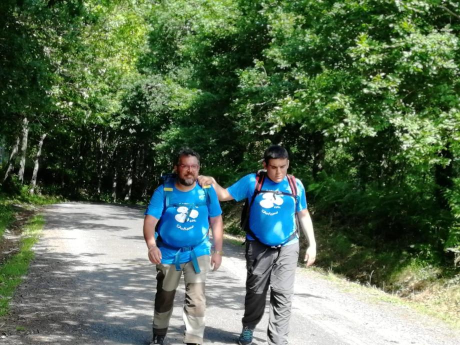 Pierangelo y Federico en el Camino de Santiago
