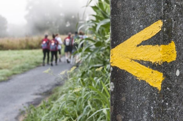 Flecha amarilla, símbolo del Camino de Santiago