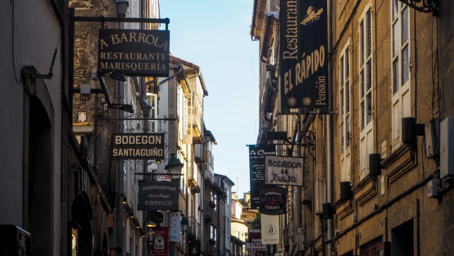 Rúa do Franco, en Santiago de Compostela