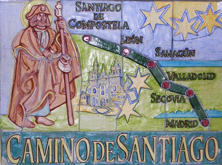Mapa del Camino de Santiago de Madrid