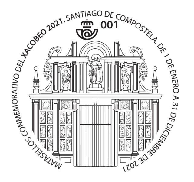 Matasellos de la Puerta Santa dedicado al Xacobeo 2021-2022