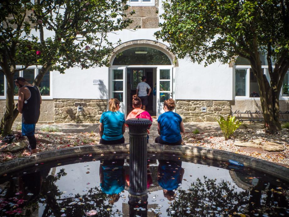 Jardín de la Oficina del Peregrino de Santiago