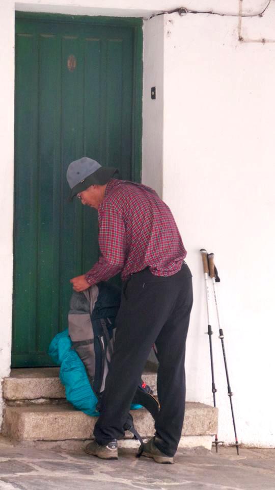 mochila camino santiago