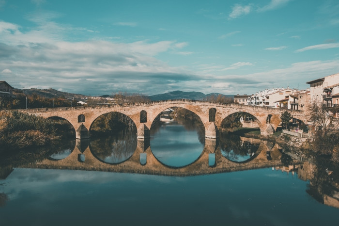 Puente la Reina en el Camino Francés