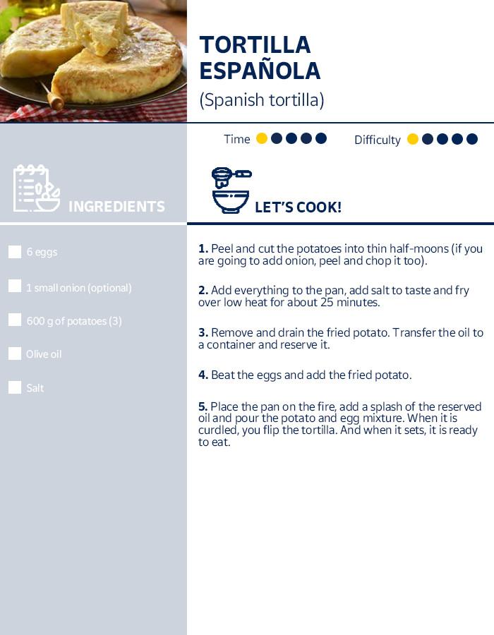 Receip Spanish Omelette