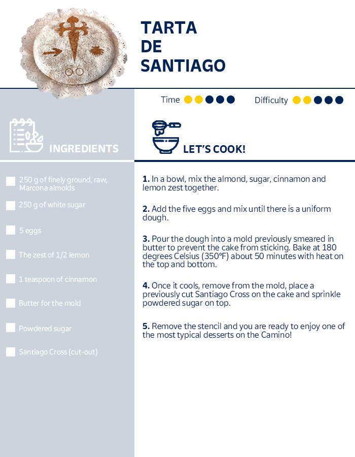 Tarta de Santiago receip