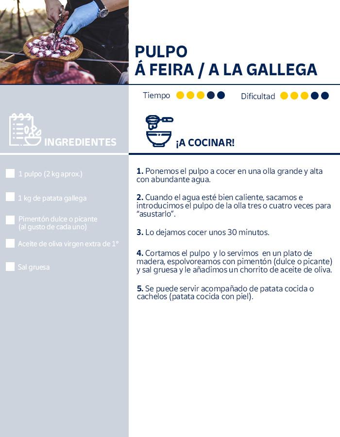 Receta del pulpo a la gallega, plato típico del Camino de Santiago