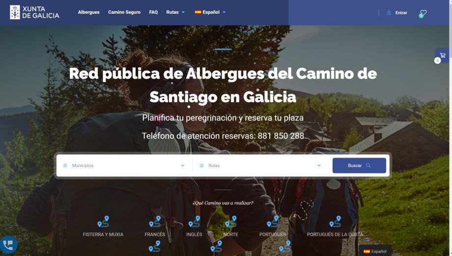 Web para reservar albergues públicos en Galicia