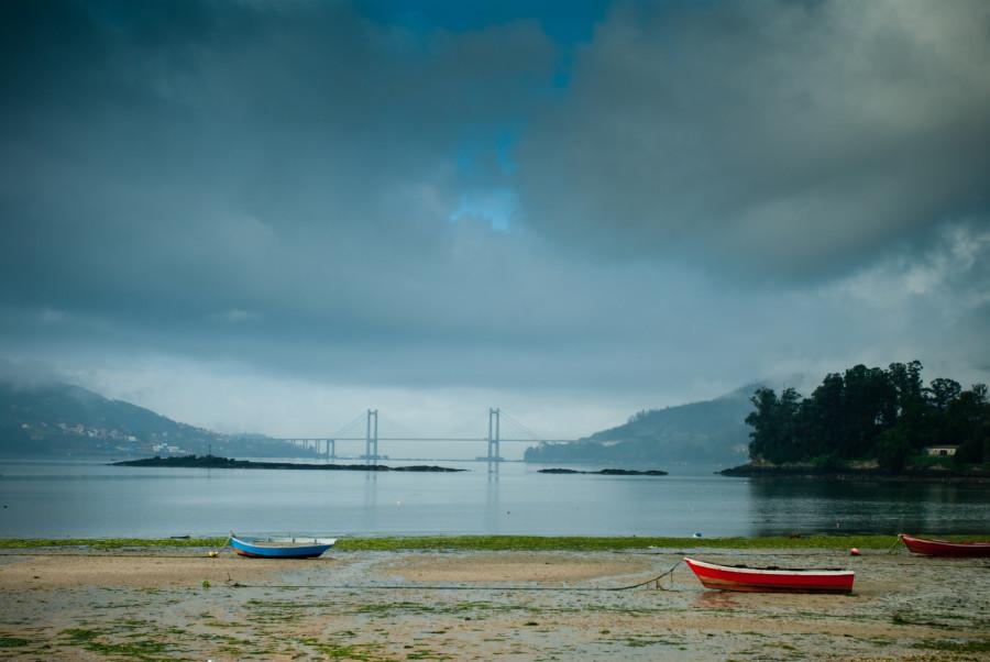 Ría de Vigo desde Redondela, en el Camino Portugués