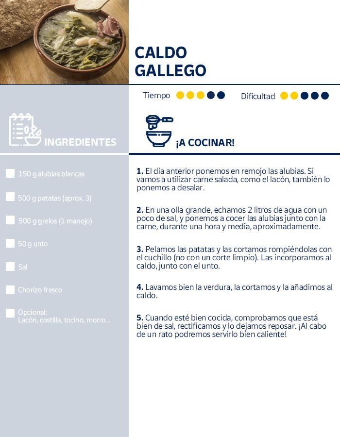 Receta del caldo gallego, plato típico del Camino de Santiago