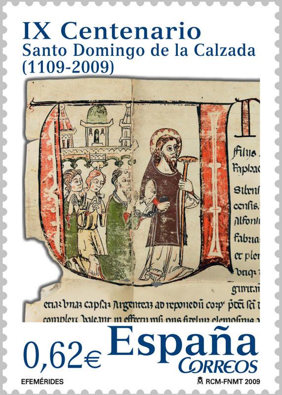 Sello dedicado a Santo Domingo de la Calzada
