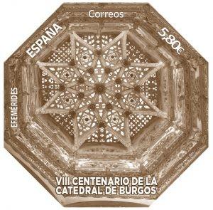 Sello conmemorativo del 800 aniversario de la Catedral de Burgos