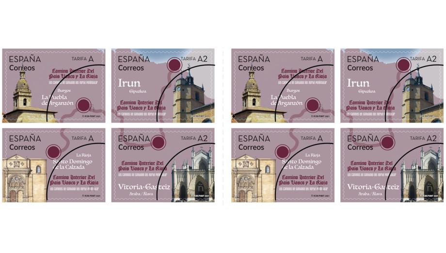 Sellos dedicados al Camino interior del País Vasco y La Rioja