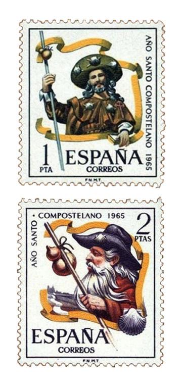 Sellos dedicados al Año Santo Compostelano en 1965