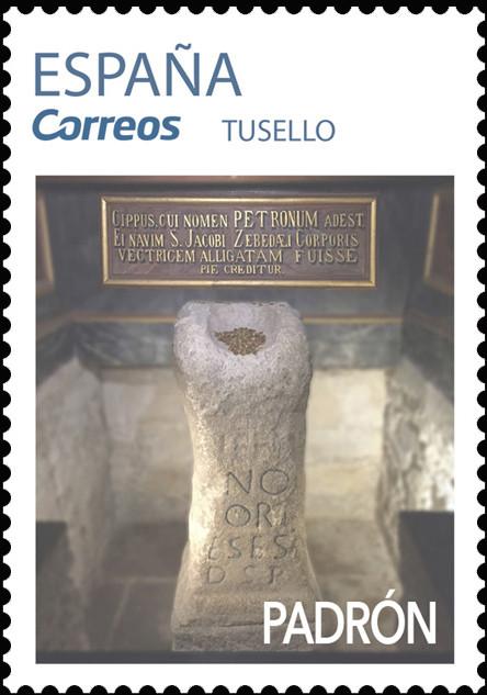 Sello del Camino Portugués dedicado a Padrón
