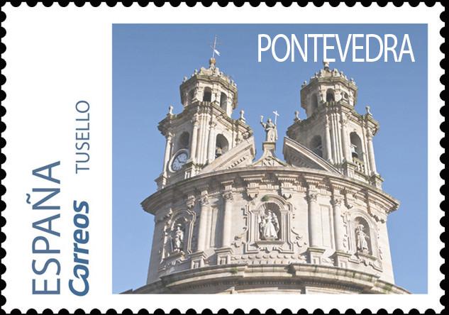 Sello del Camino Portugués dedicado a Pontevedra