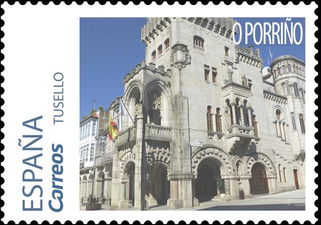 Sello del Camino Portugués dedicado a O Porriño