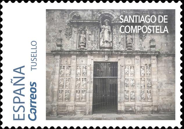 Sello del Camino Portugués dedicado a Santiago de Compostela
