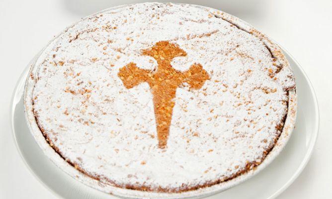 Tarta de Santiago, postre típico de Compostela y del Camino