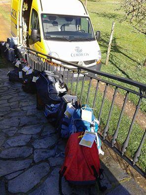 transporte mochilas camino santiago