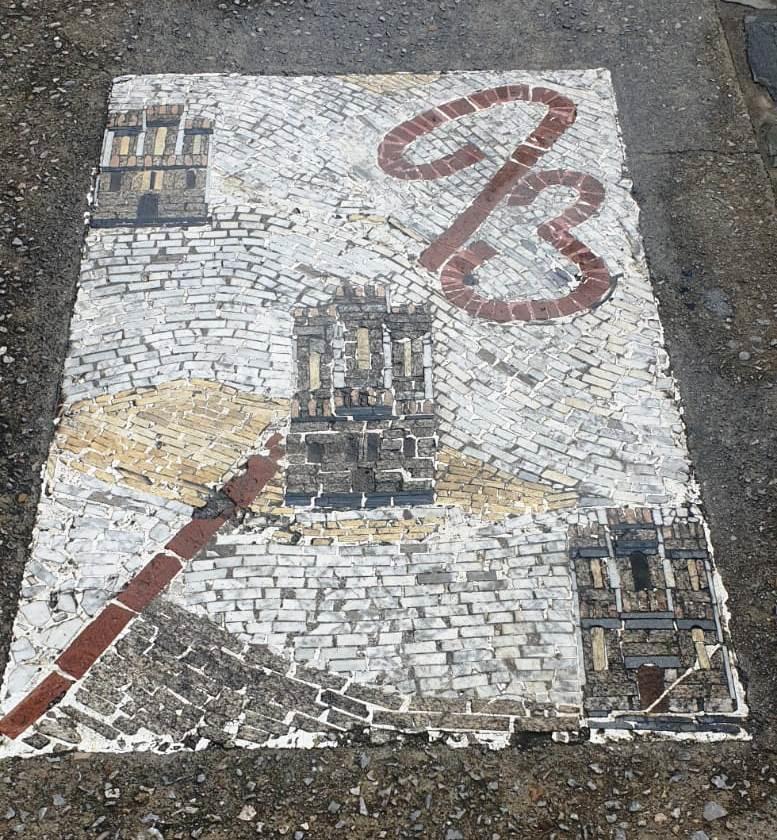 Escudo de Triacastela, pueblo jacobeo del Camino Francés