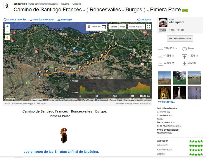 wikiloc camino santiago