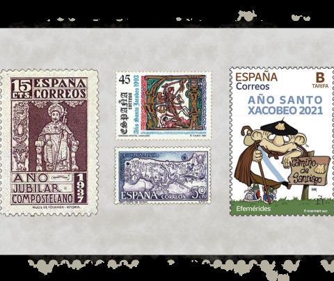 El Año Santo Compostelano en sellos