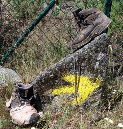 La fecha amarilla, la señal del Camino de Santiago