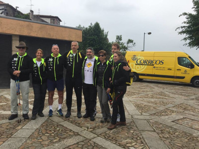 Aleksandar Petrovic finishes the Camino at the Obradoiro