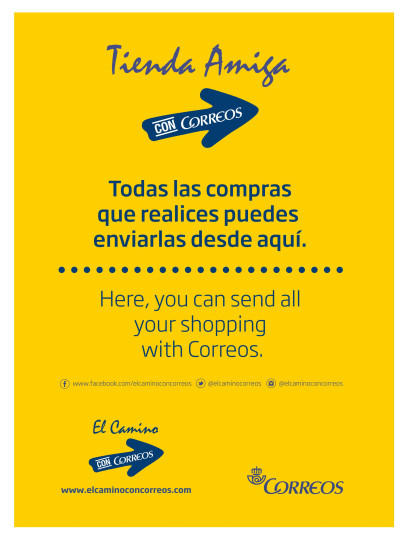 Friend Shops of Correos: your shopping along the Camino
